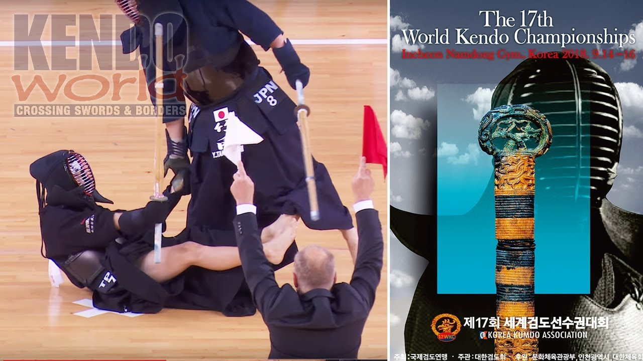 Men's Team Semifinal: Chinese Taipei vs. Japan - 17th World Kendo Championships