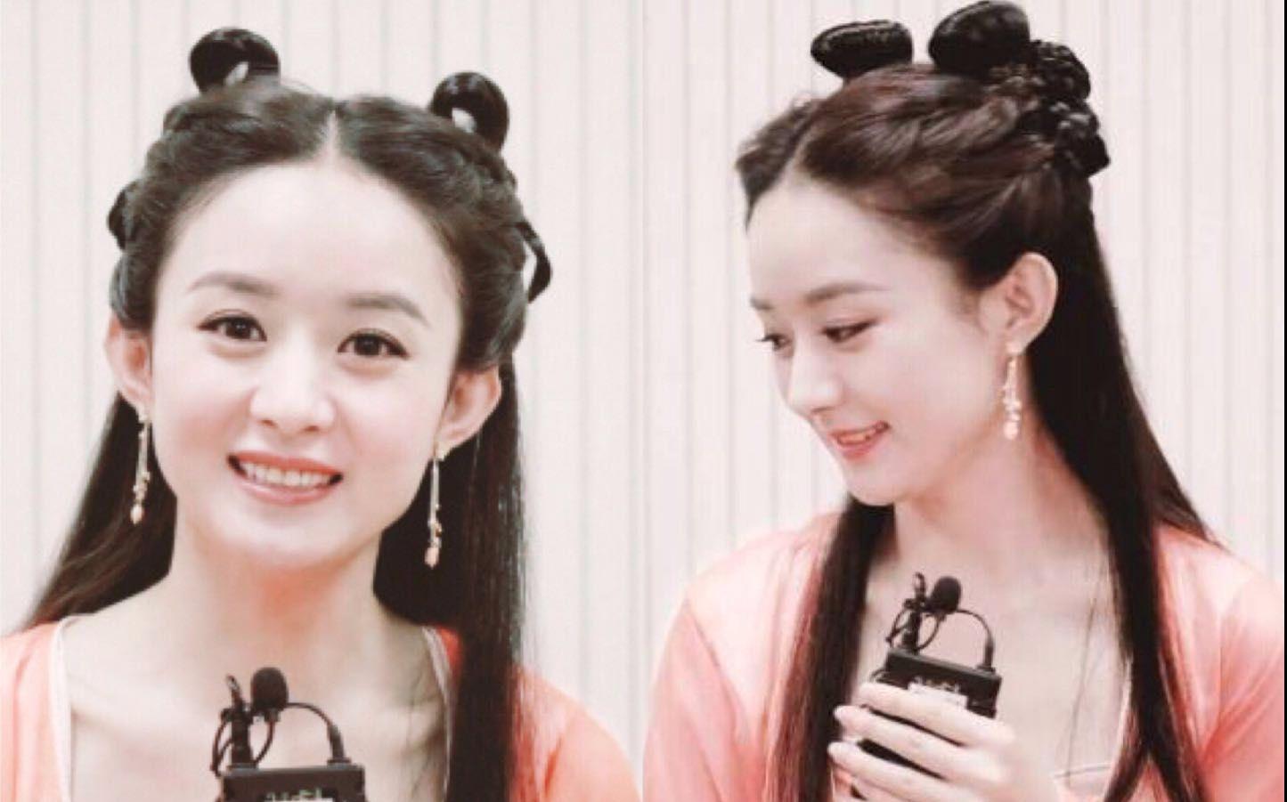 【胖仙女汉服发型教程】不用假发包~赵丽颖 德芙广告嫦娥造型