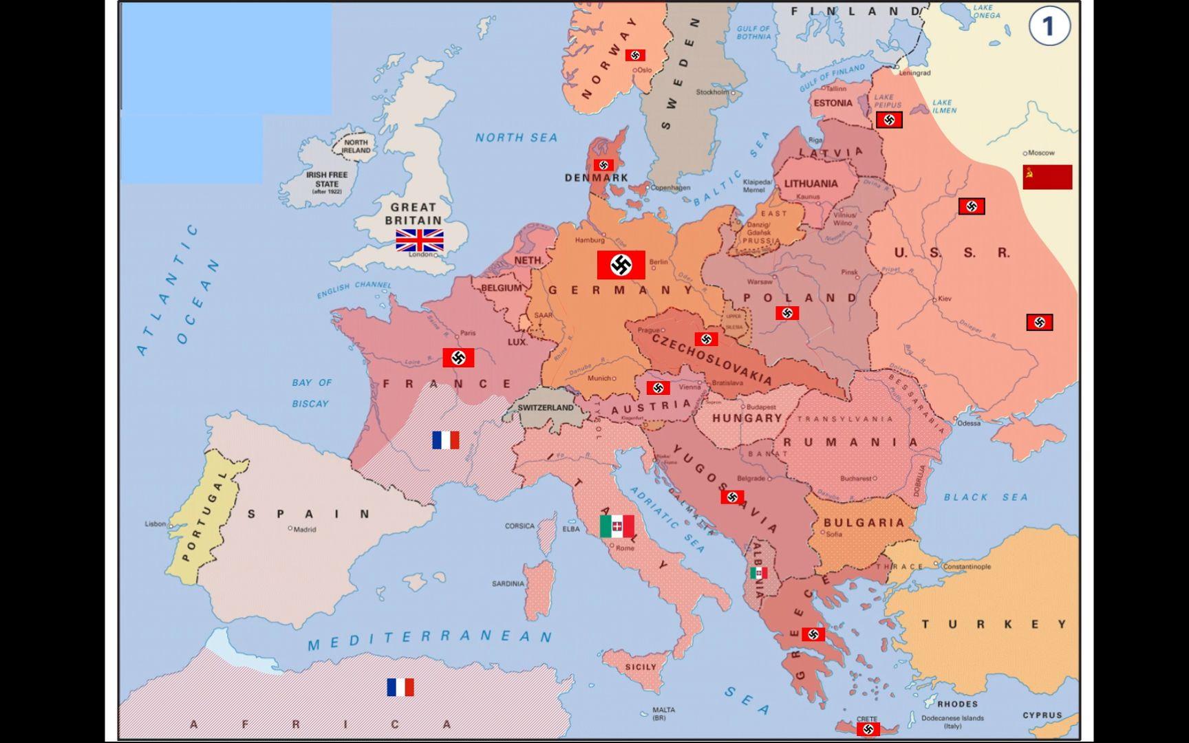 二战欧洲·地图版图片