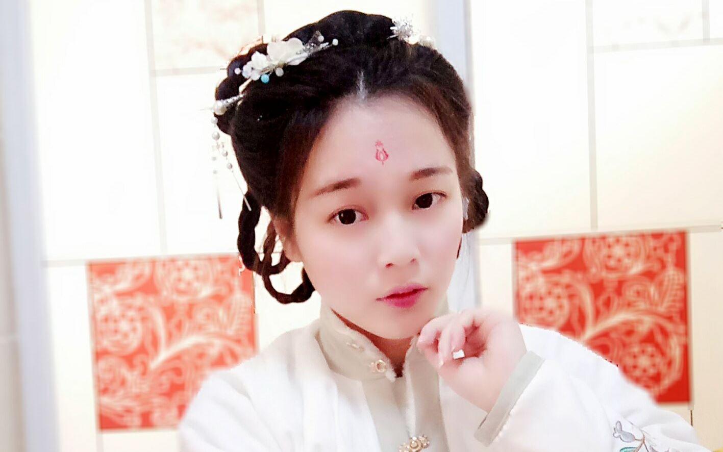 简单美丽的发辫无刘海设计 古风_发型设计图片