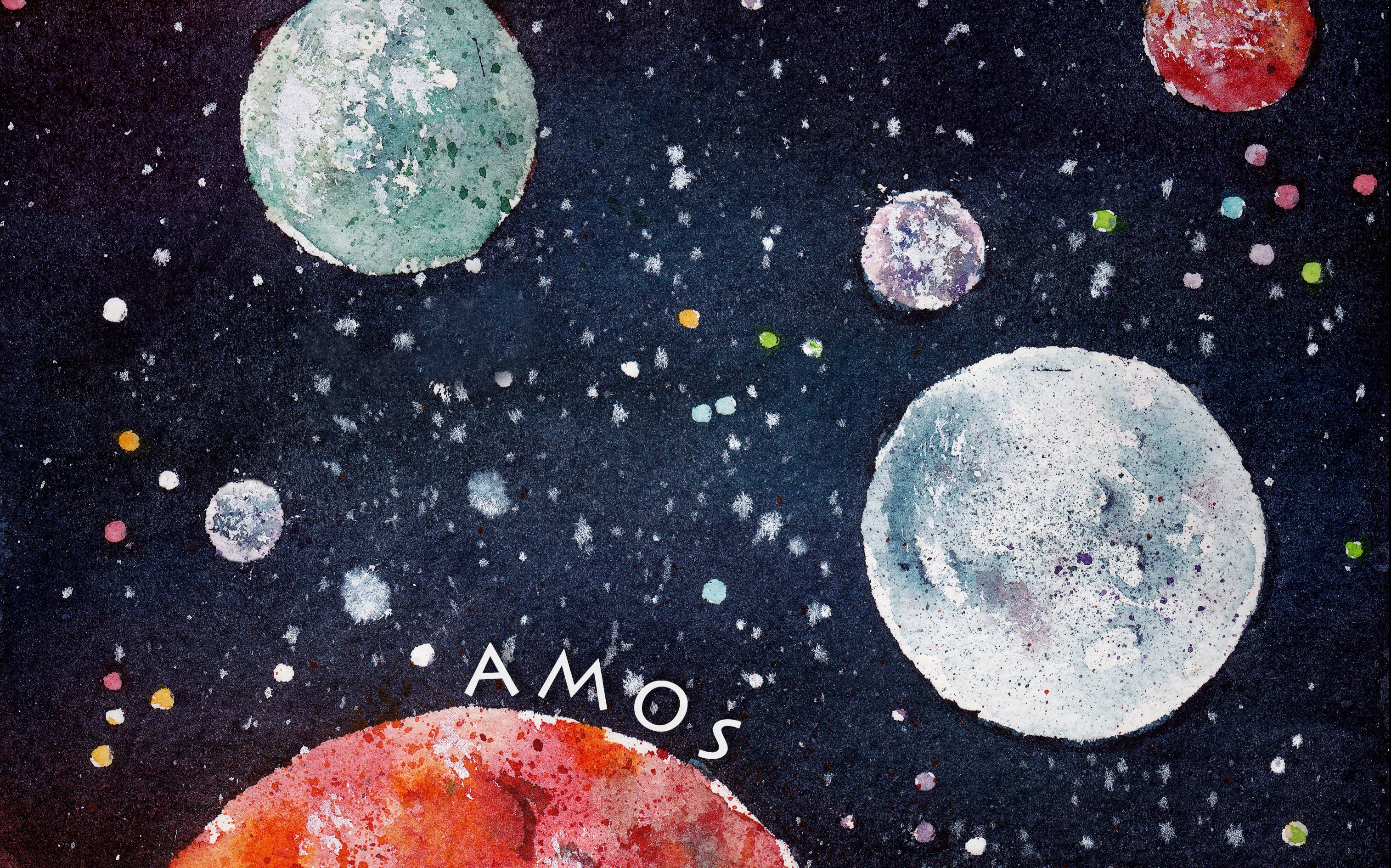 【水彩】手绘过程 ·星球【amos-t】16.10.05_绘画图片