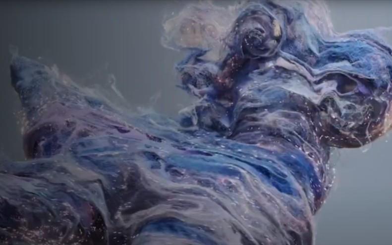 houdini流体粒子创建缠绕表面pyro效果