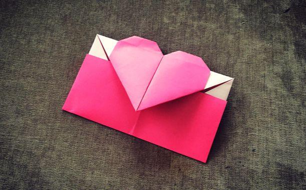 第101期 纸在乎你 手工折纸:爱心信封 学不会提头见!