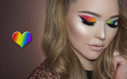 【nikkietutorials】同性骄傲彩虹眼妆教程图片