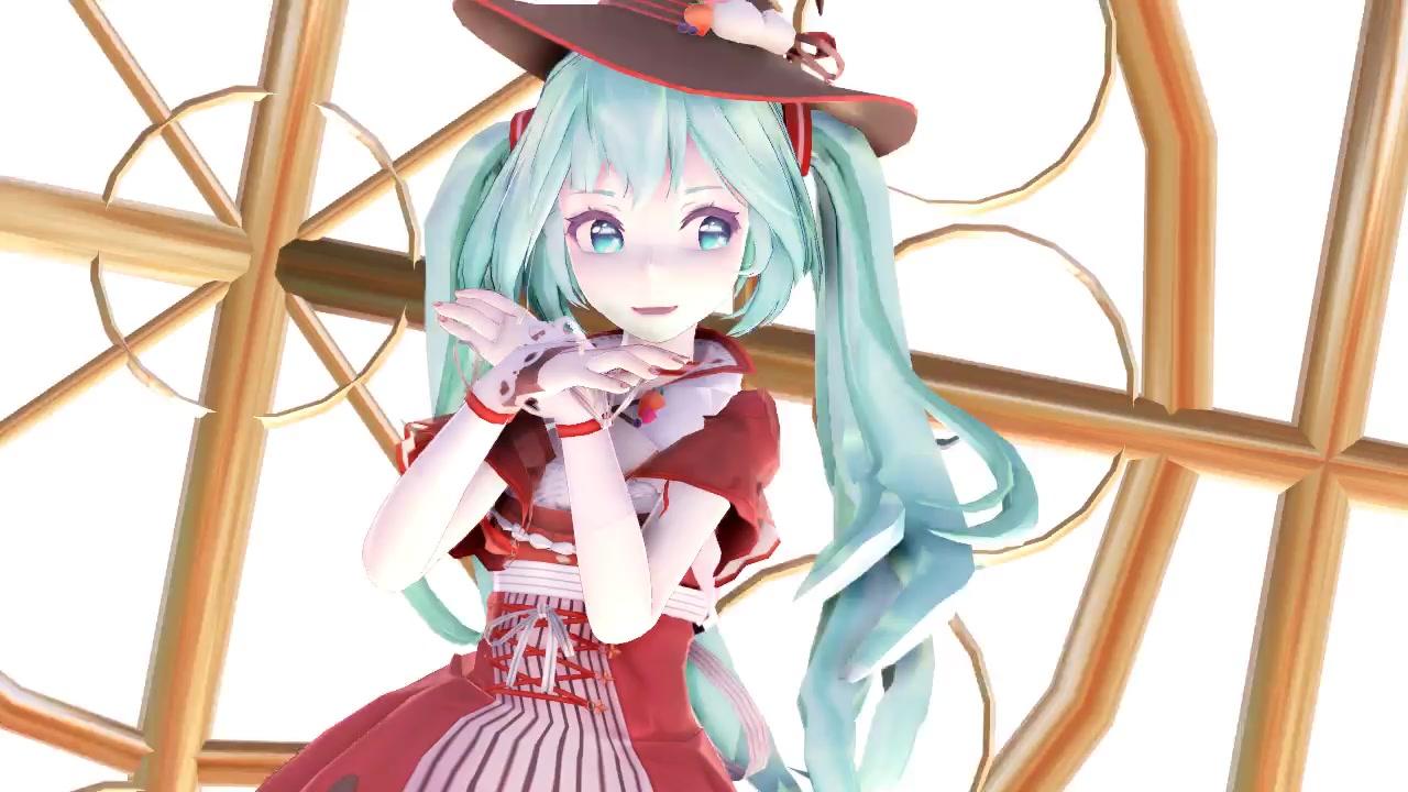 【v+mmd】小魔女miku的sweetdevil·才不会说出喜欢什么的 ( ω )
