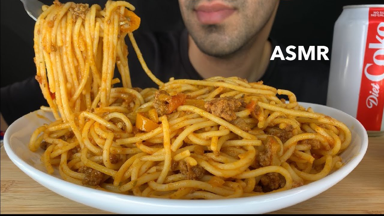 【Saudi】Spaghetti&;specic;肉124u; eating sounds&;面条的声音(2019年11月23日0时46分)