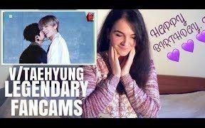 BTS V-署密材 Legendary Fancams Reaction (伏扉