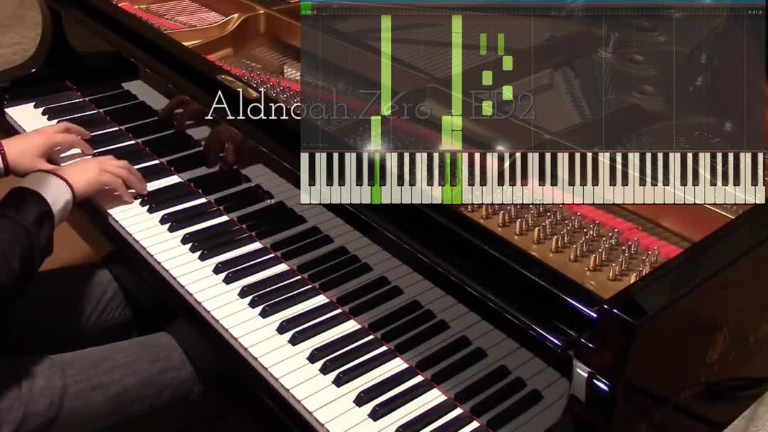 【synthesia/a叔】核爆神曲 alize by animenz 模拟钢琴图片