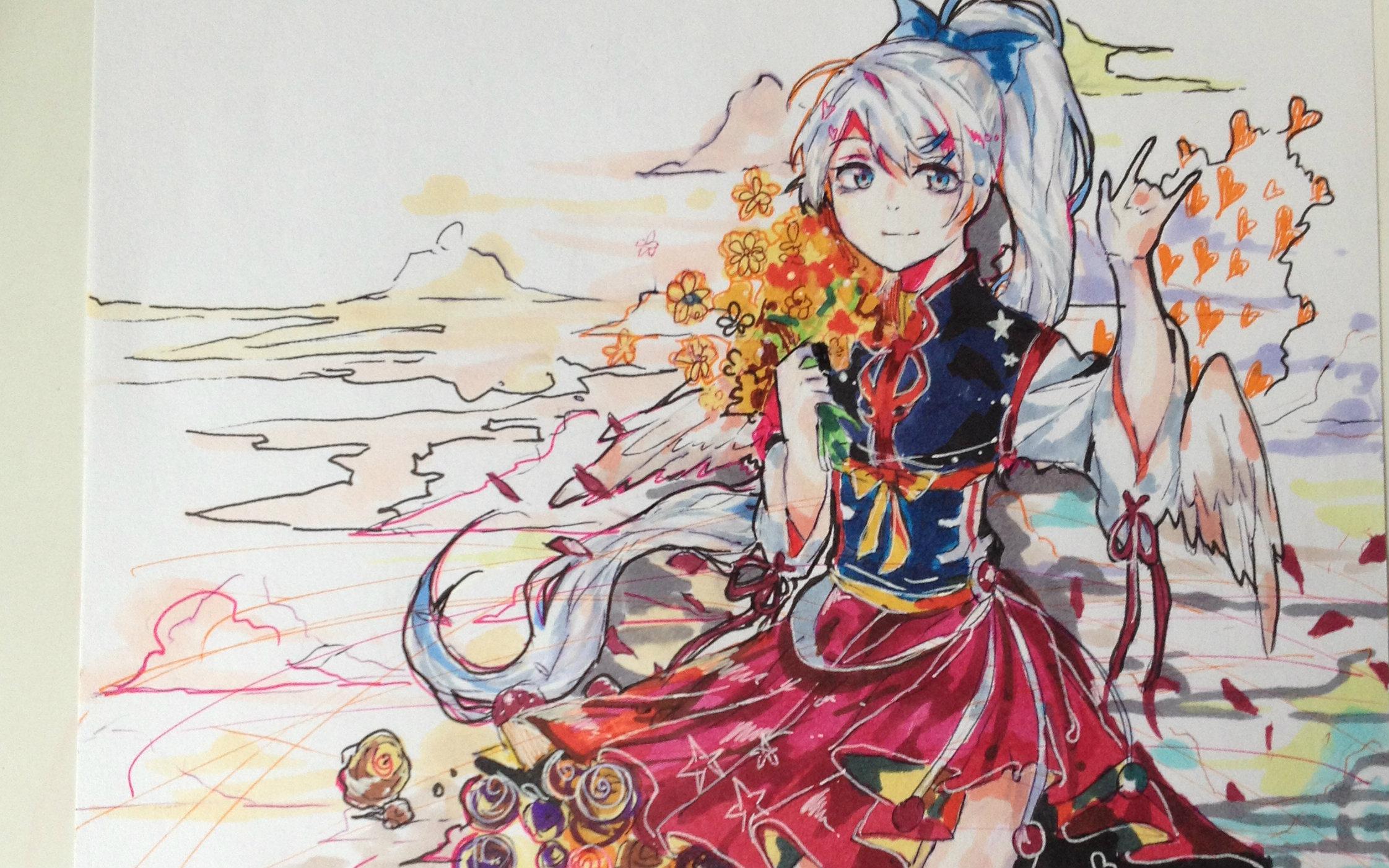 【自制】马克笔上色过程(4)