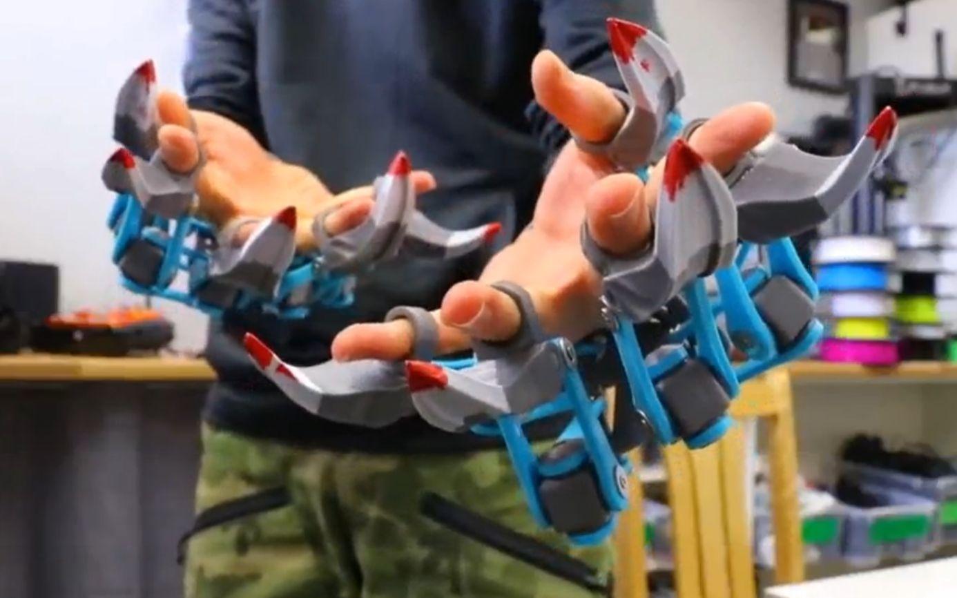 【全球优秀开源机器人项目】 3d打印骨骼手