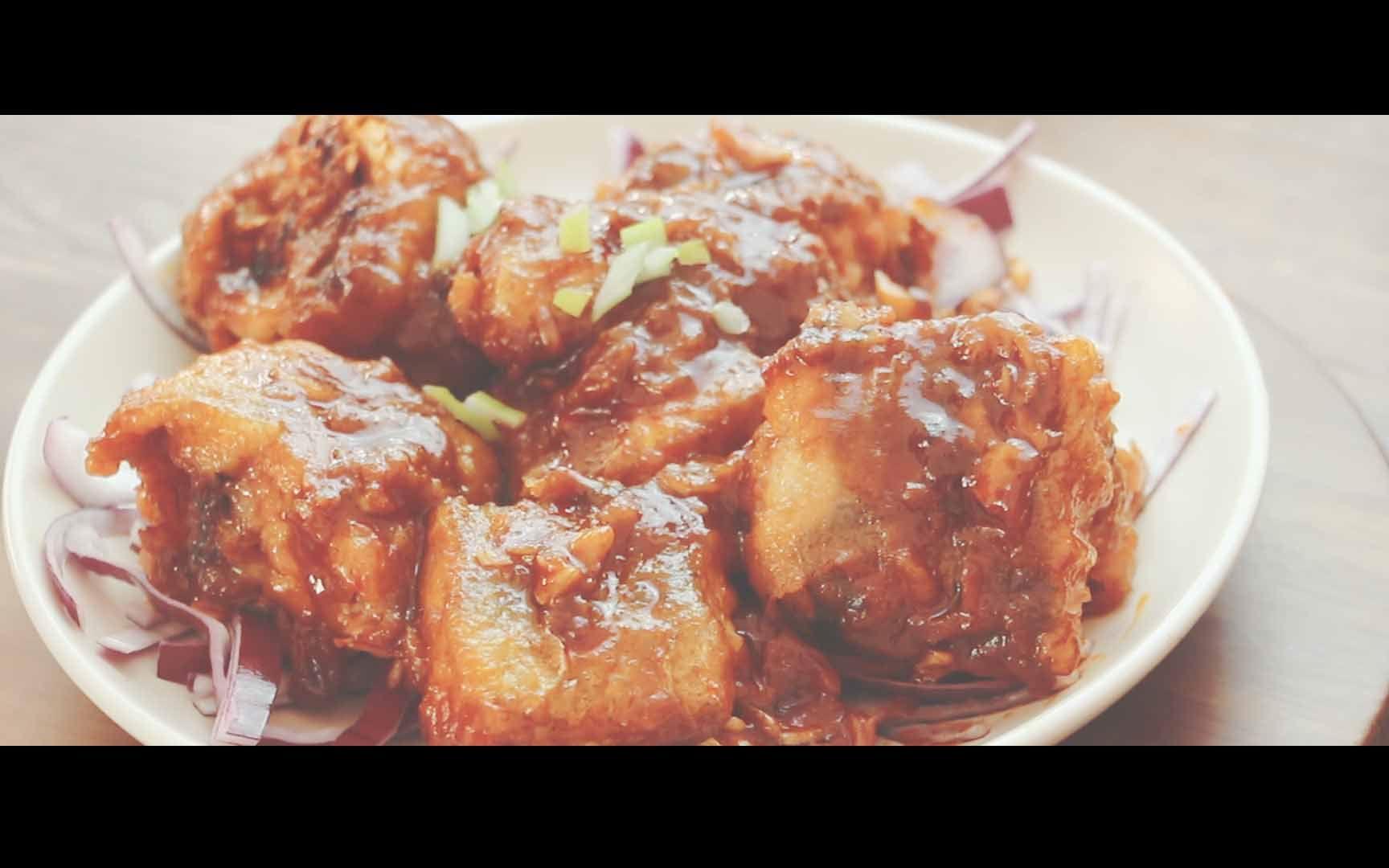 私厨日记:韩式鳕鱼,微辣鲜甜,美味可口图片