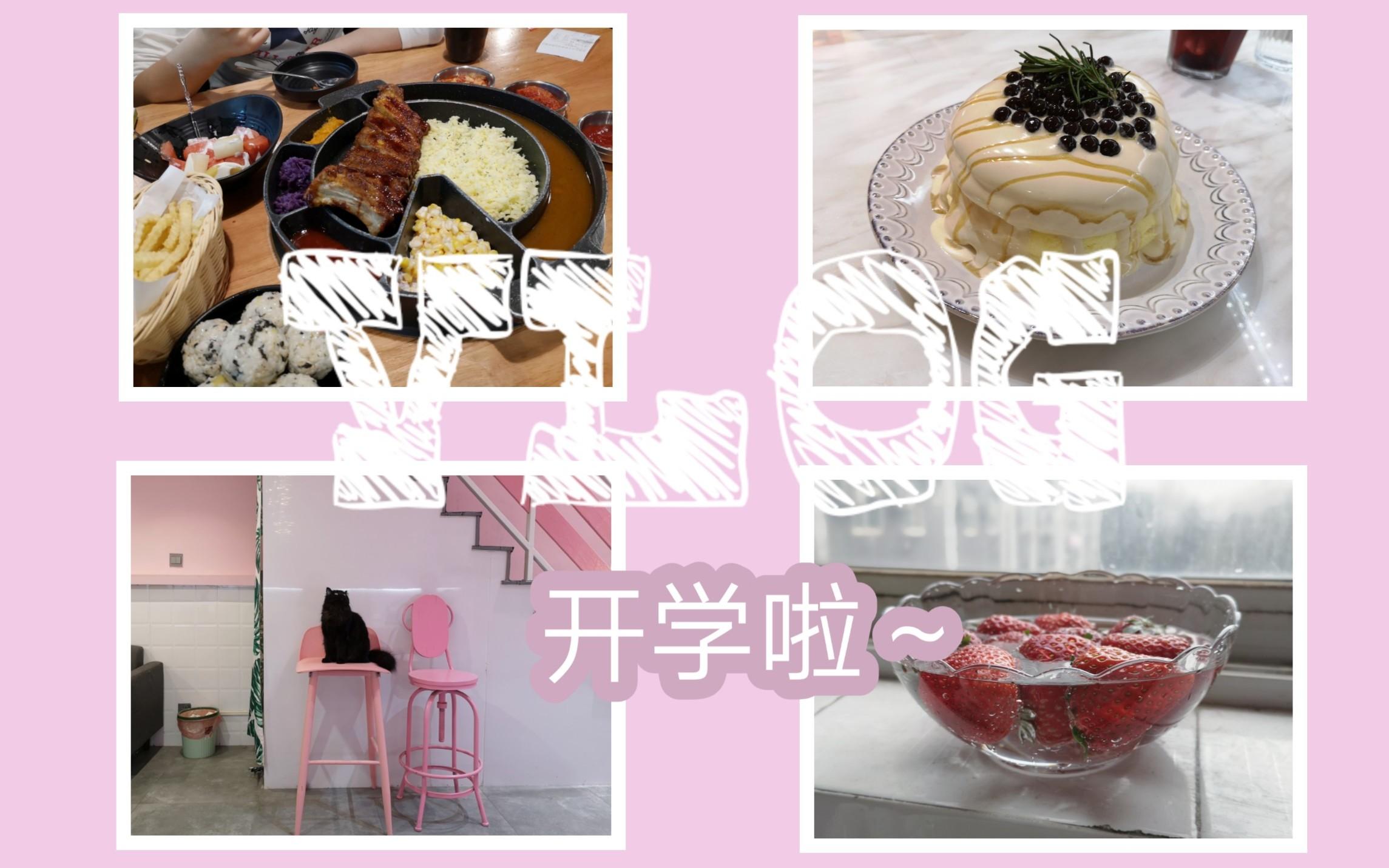 VLOG  开学第一周 芝士排骨 珍珠奶茶舒芙蕾 江汉路 上课 宿舍小日常