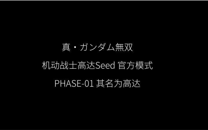 真高达无双 官方模式 机动战士高达Seed PHASE-01 其名为高达