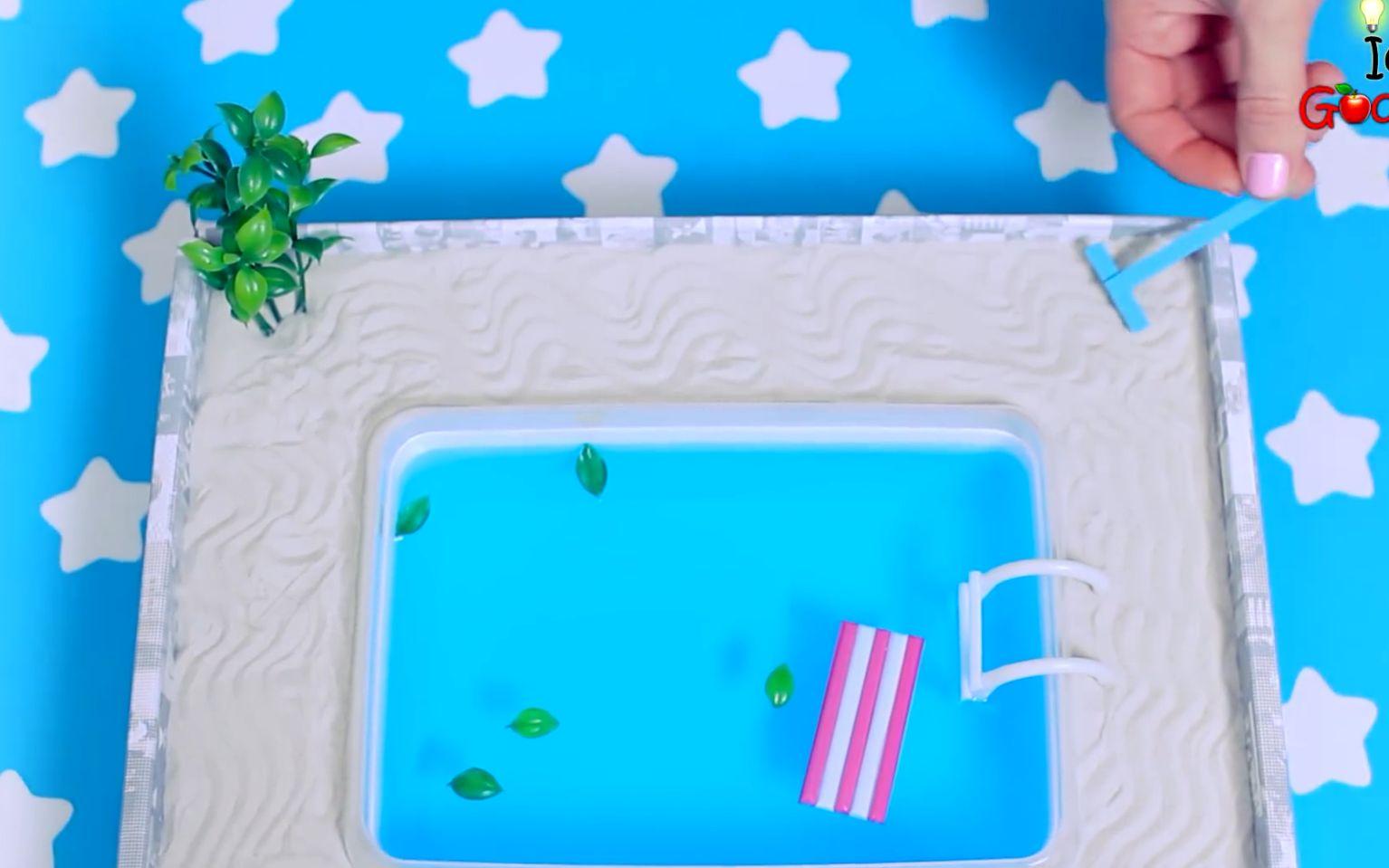如何制作一个微型游泳池,DIY手工
