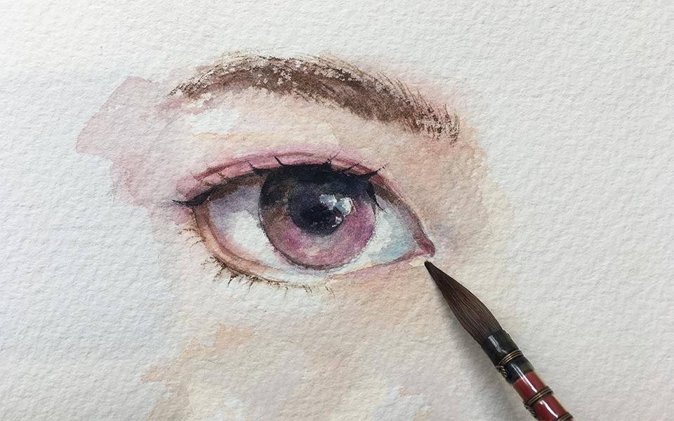 用水彩画眼睛系列第二弹