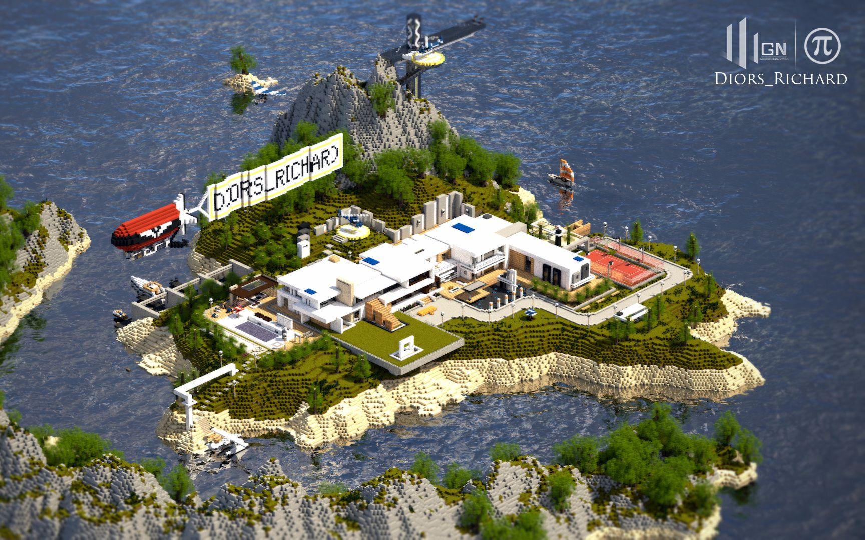 【我的世界展示建筑】《月牙湾海岛别墅》【科迪先森】二手房别墅云府中航图片