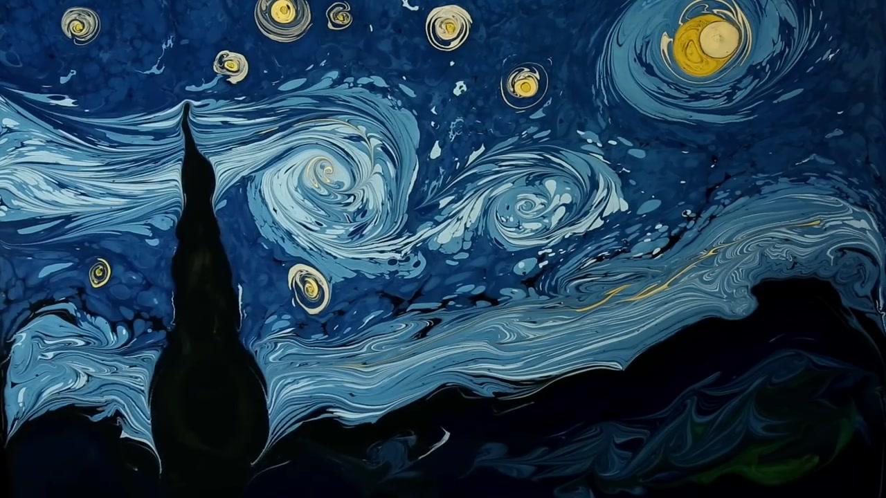 【youtube】星夜&梵高自画像