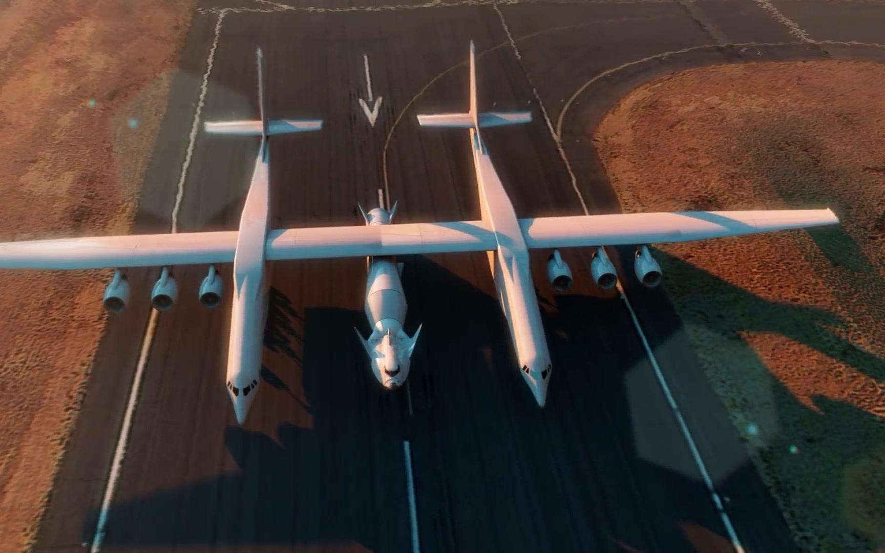 平流层发射公司的飞机发射追梦者号航天飞机