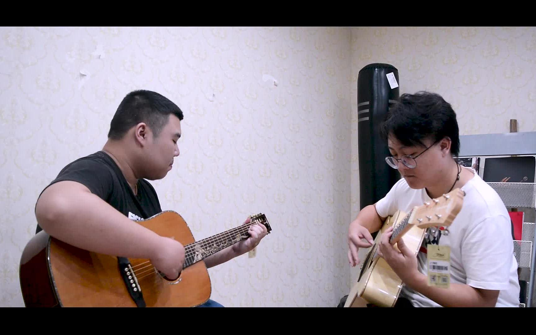 双吉他 指弹《start》Depapepe 演示+教学!和小伙伴们学起来!