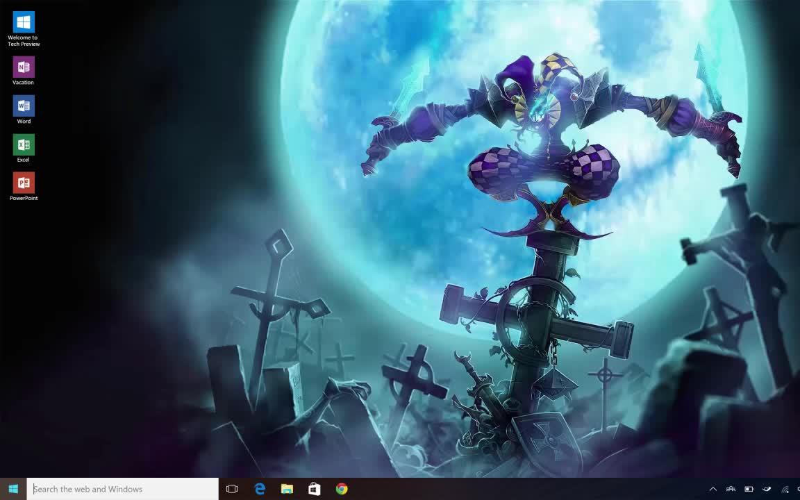 【唧歪秀视频桌面】自制lol恶魔小丑萨科动态壁纸图片