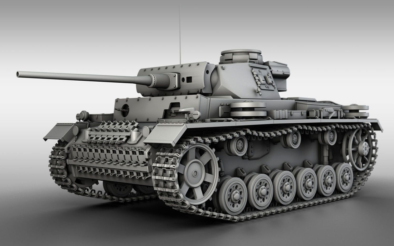 【3ds Max】Panzer III 三号坦克建模教程(34P)