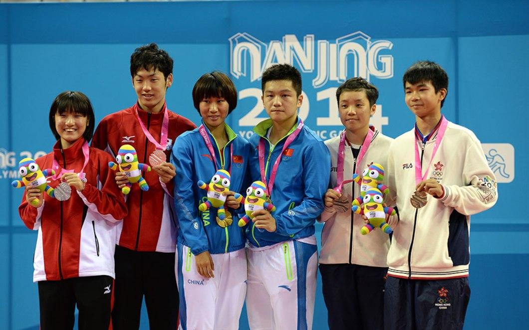 【乒乓球】2014年南京青奥会乒乓球混合团体比赛合集图片