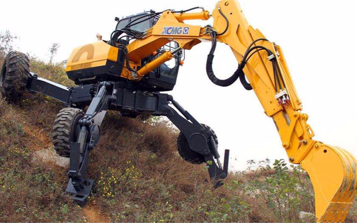 扫描二维码 点赞 中国徐工集团的et110步履式挖掘机技术全球仅此一家图片