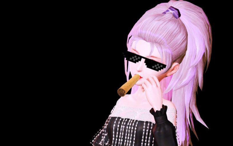 【鳗鱼作品】雪茄墨镜大金链子图片