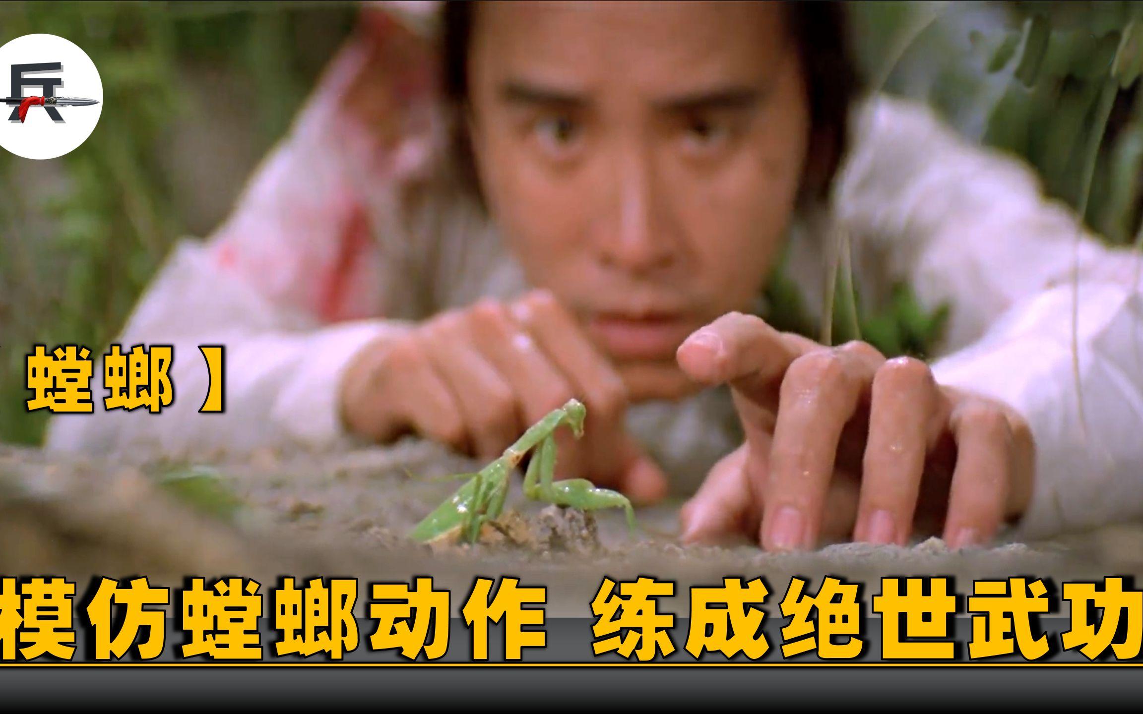 男子模仿螳螂动作,看着很奇怪,却意外练成绝世武功!武侠