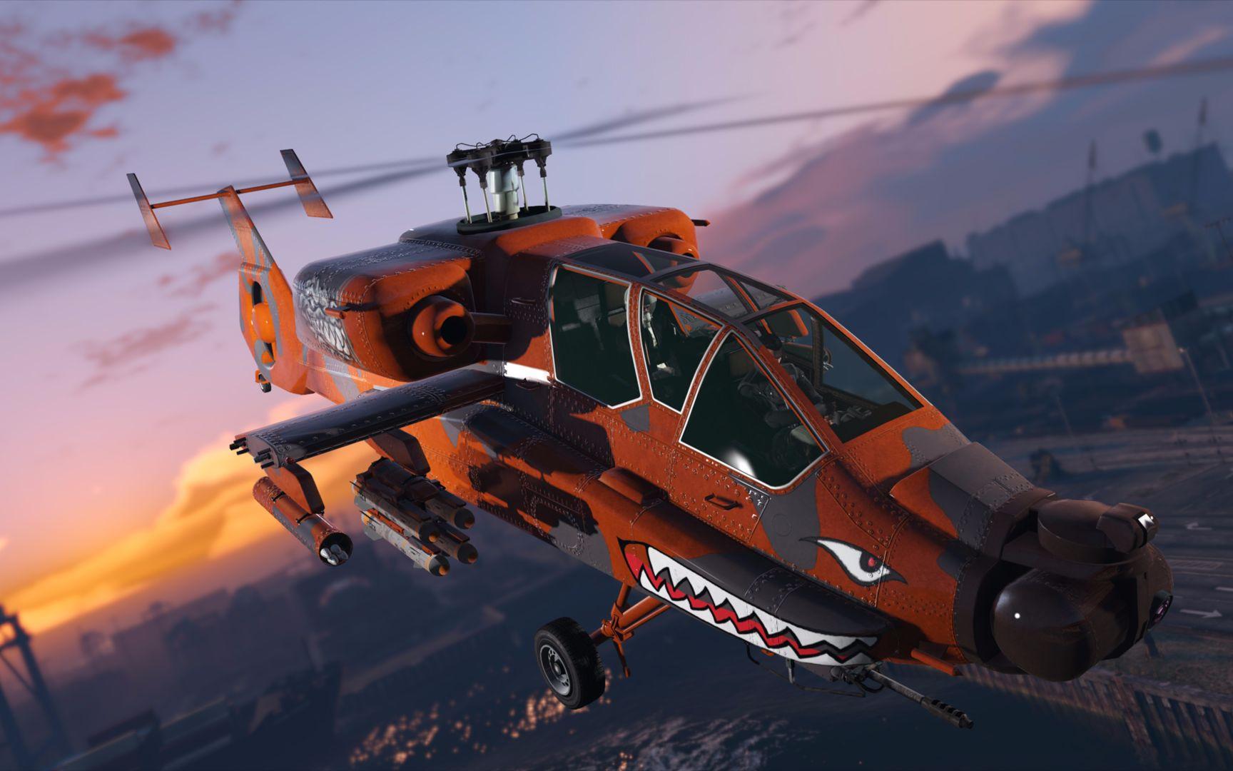 gta5线上更新 fh-1猎杀者 阿帕奇正式上线!