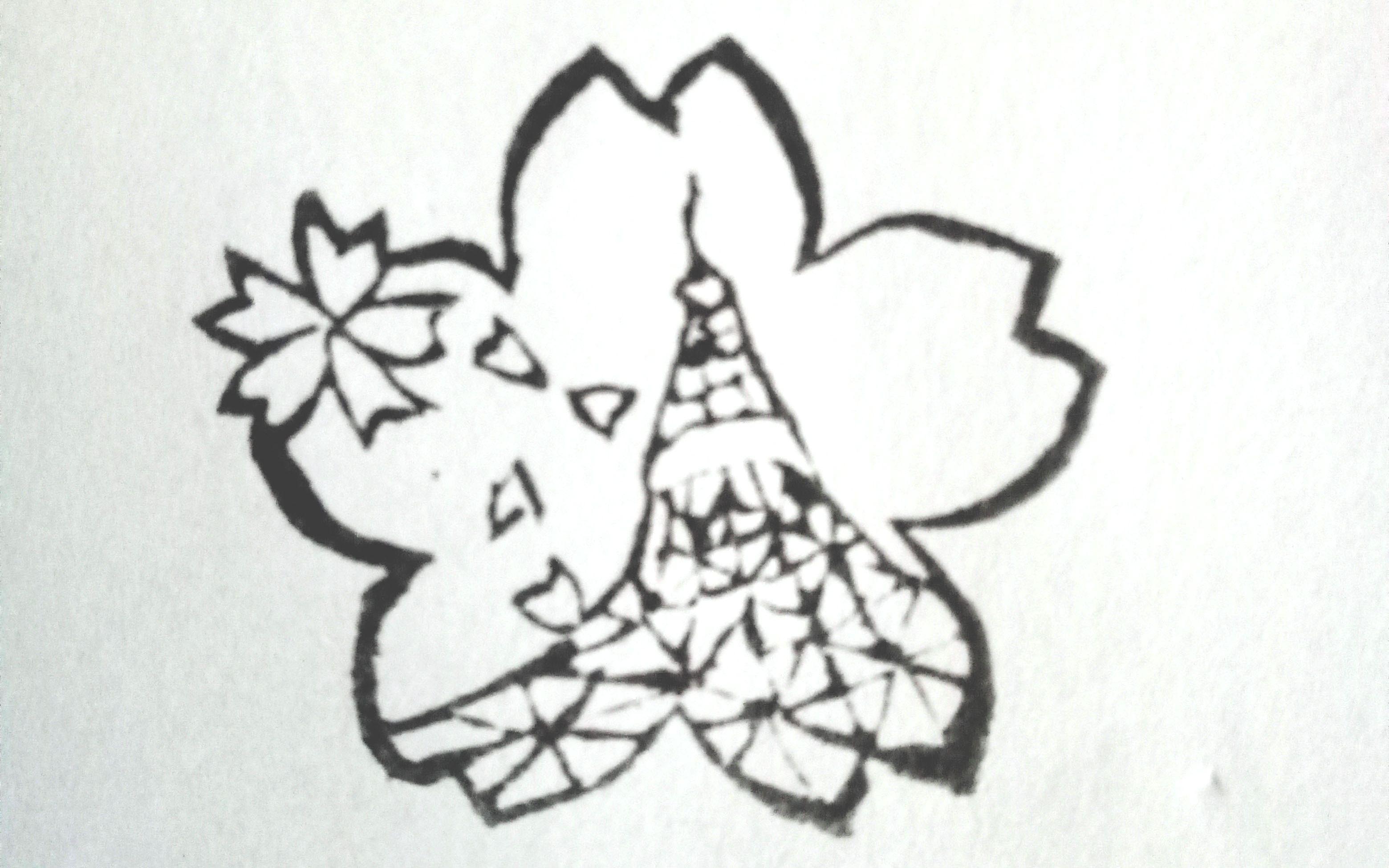 橡皮章樱花图片