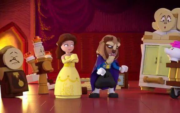 【迪士尼公主】官方超可爱童声lego×迪士尼美女与野兽!睡前小故事!