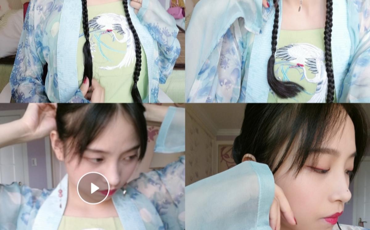 【竹芝与乔安】一个发包能完成的短发汉服发型!手残党图片