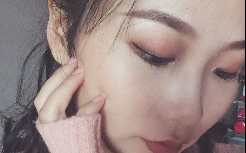 单眼皮秋冬季枫叶妆—不用双眼皮贴就能画的单眼皮图片