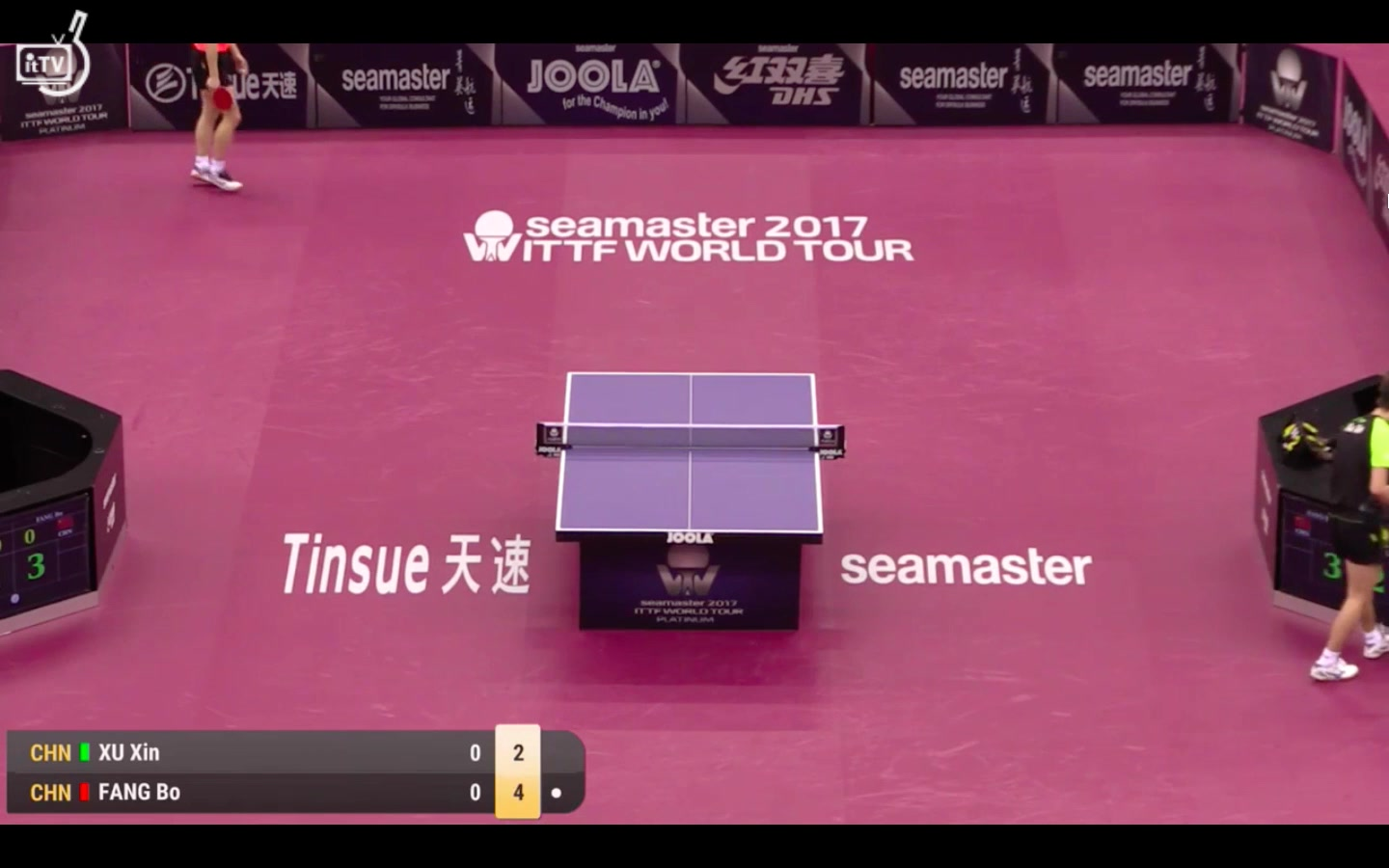 方博 vs 许昕 24.2.2017 Qatar Open Men's Single(5)