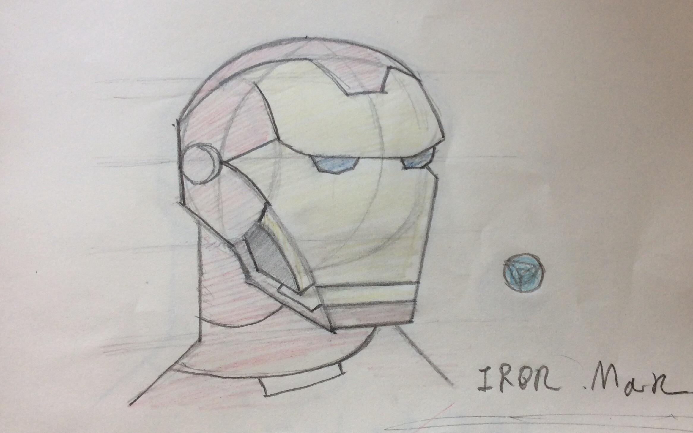 手绘 攘夷志士桂小太郎今天就要画一个钢铁侠 的头 哔哩哔哩 ゜ ゜ つロ
