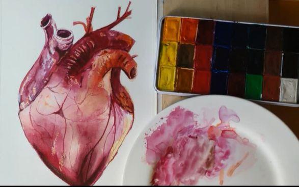 1.6 比个心吧~这算……心脏解剖图?no.