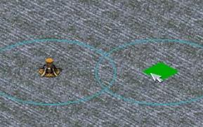 【红色警戒2】在这张图你可以造油桶来防守。