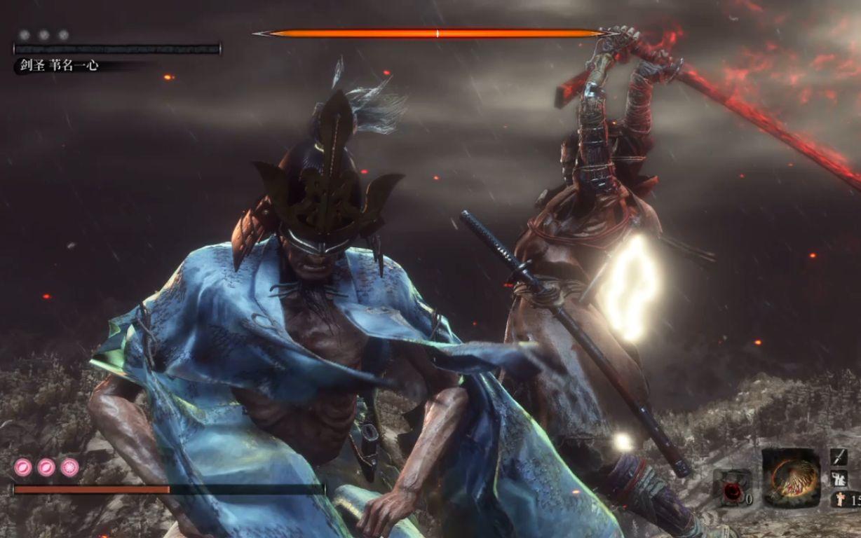 《只狼:影逝二度》69秒无情速杀剑圣苇名一心+苇名弦一郎视频攻略