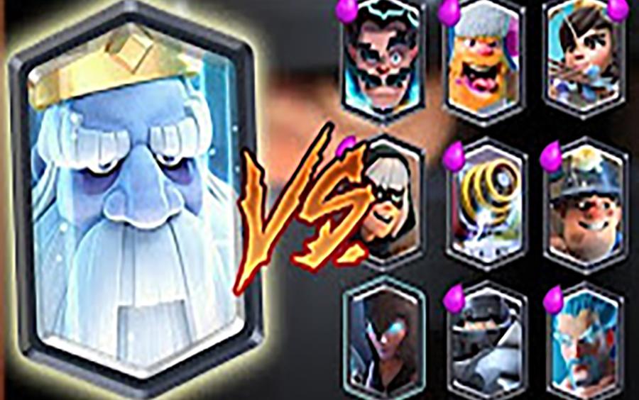 【皇室战争】皇家幽灵1v1对战所有卡牌?