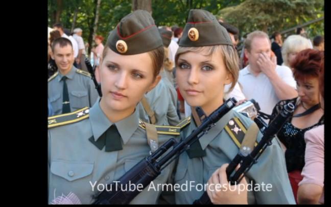 性感的俄罗斯女兵,你能打几个?