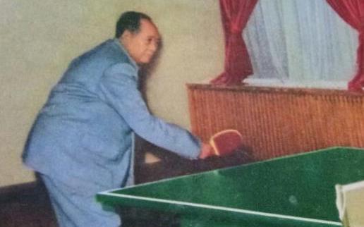 毛主席这乒乓球打的,绝了!