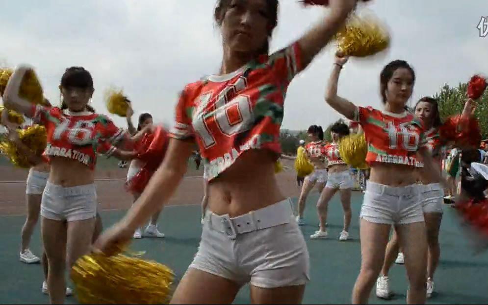 文昌中学 2016运动会 啦啦队舞蹈 喔图片