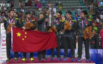【第53届乒乓球仪式世锦赛】女团颁奖决赛手势(3)地掷球掷球团体图片