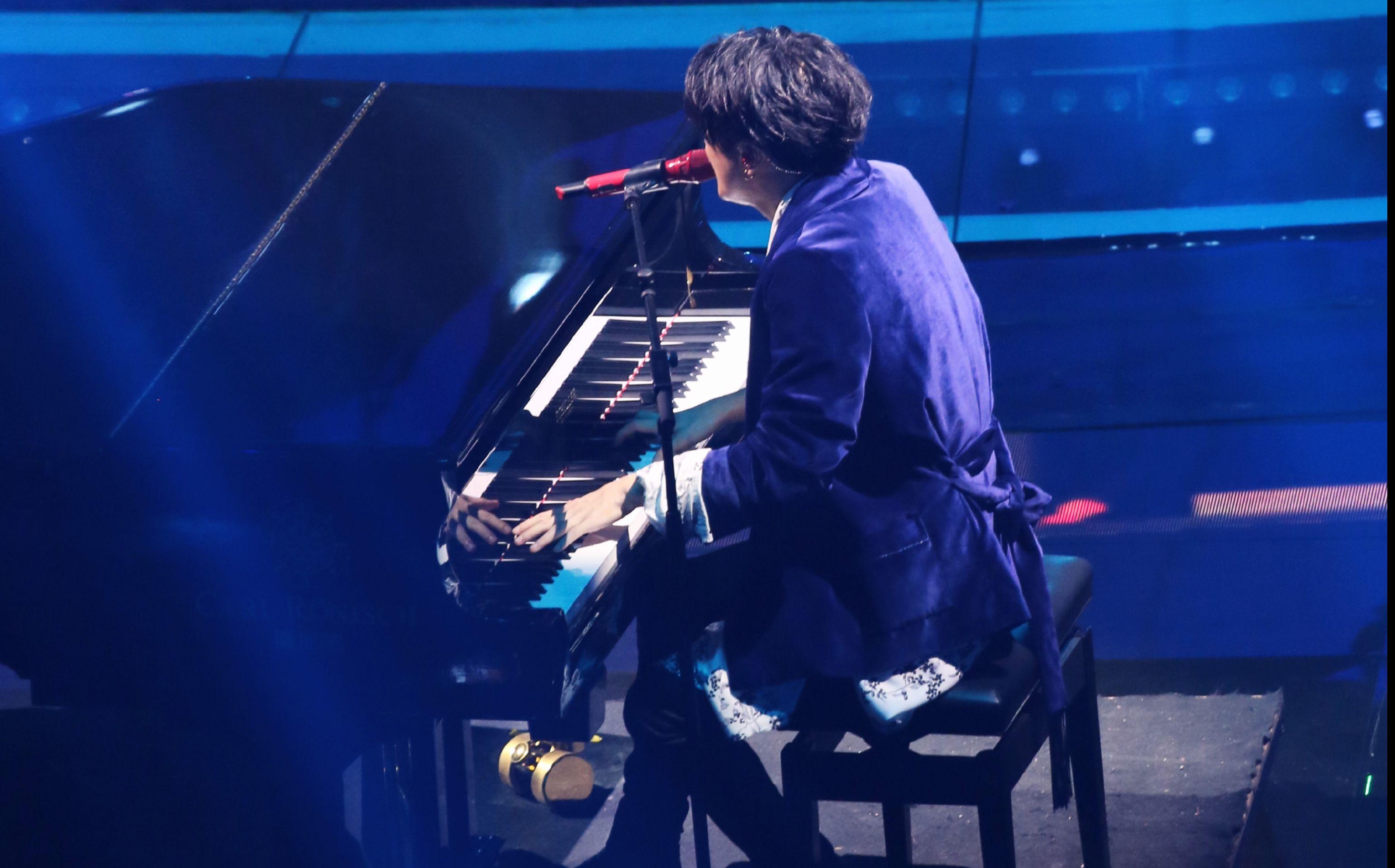 薛之谦&毛不易跨年《下雨了》《消愁》饭拍版,钢琴薛小王子,再见2017图片