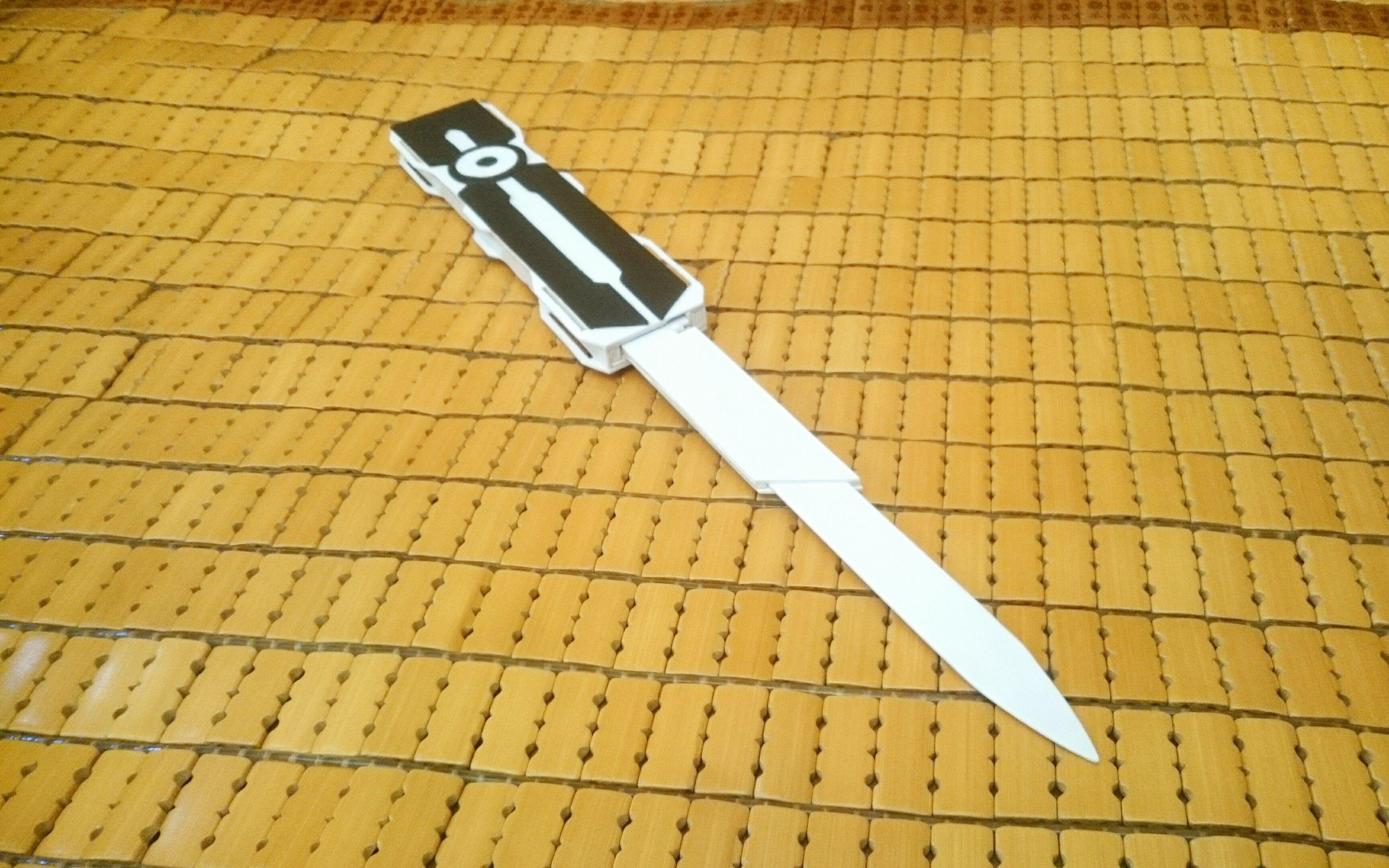 自己跟着自己搬运的视频做的袖剑图片