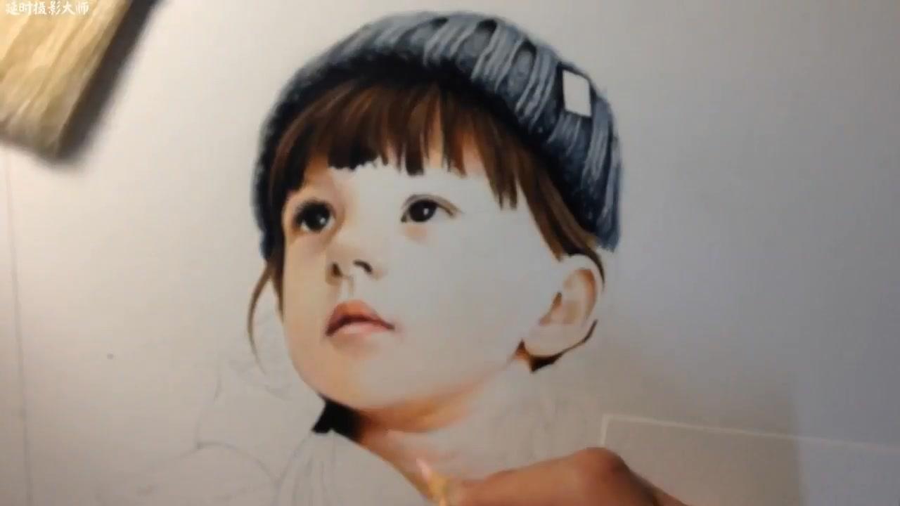 彩铅手绘人物 001图片