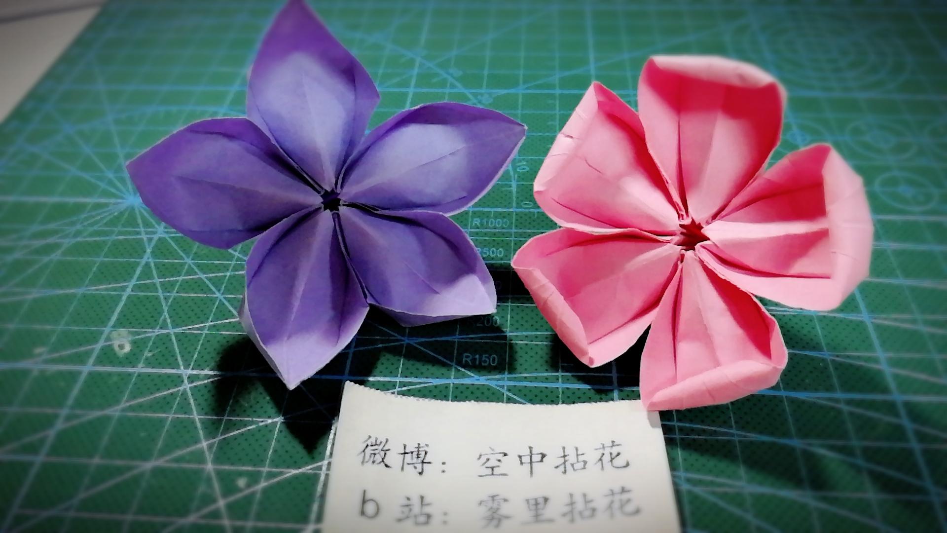 【折纸】一张纸折樱花桜にほんご图片