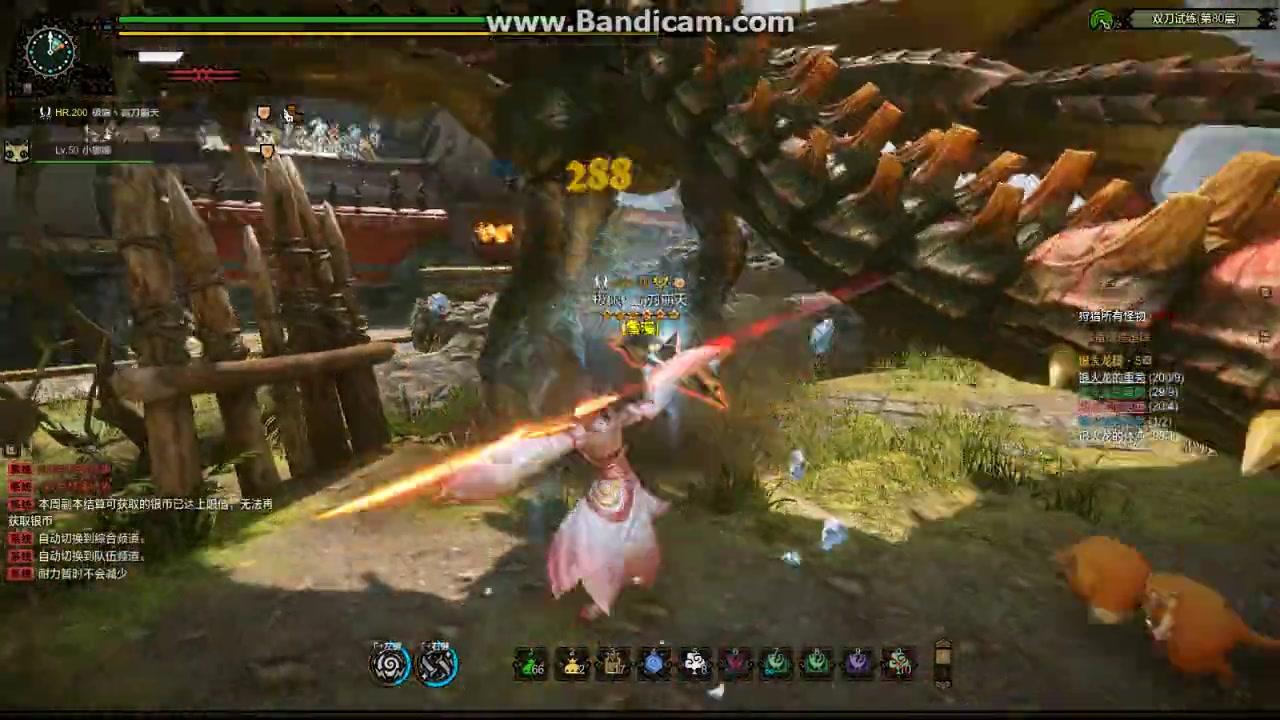 怪物猎人ol双刀-武器试炼80层舞雷龙