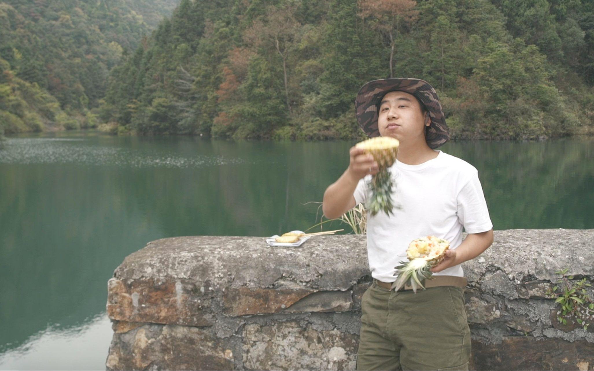 香香的烤菠萝,你吃过没@野食小哥
